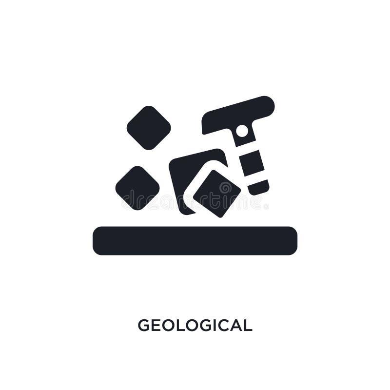 geologisch geïsoleerd pictogram eenvoudige elementenillustratie van de pictogrammen van het museumconcept geologisch editable het stock illustratie