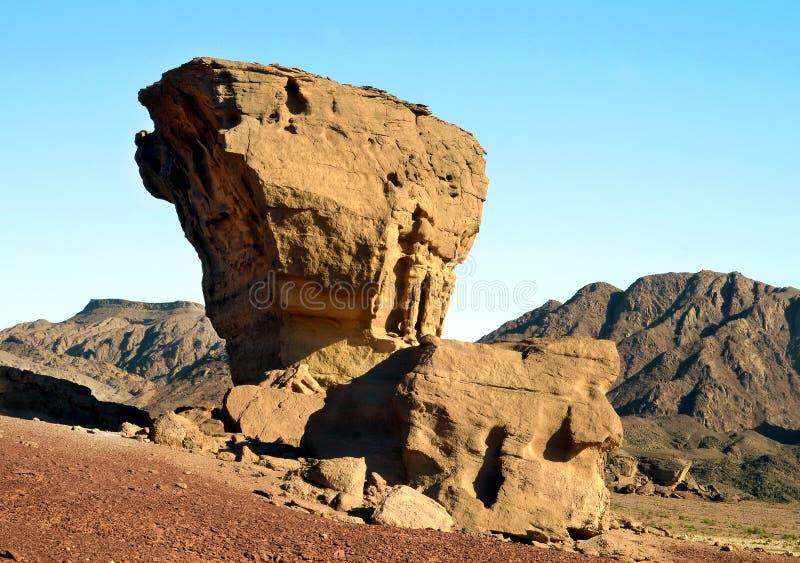 Geologisch park Timna, Israël royalty-vrije stock fotografie