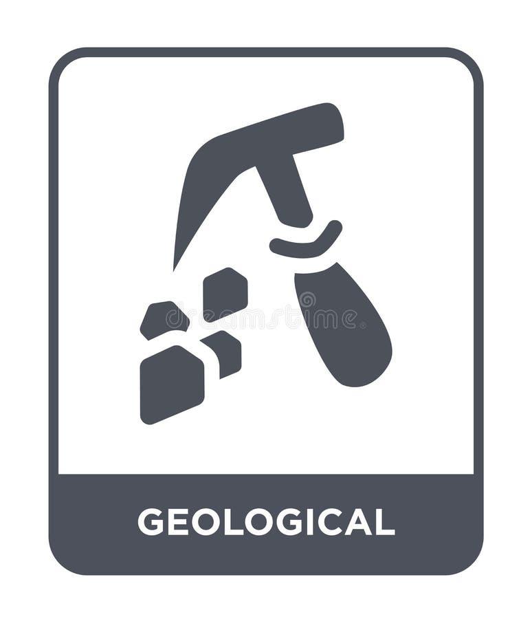 geologisch pictogram in in ontwerpstijl geologisch die pictogram op witte achtergrond wordt geïsoleerd geologisch vector eenvoudi vector illustratie