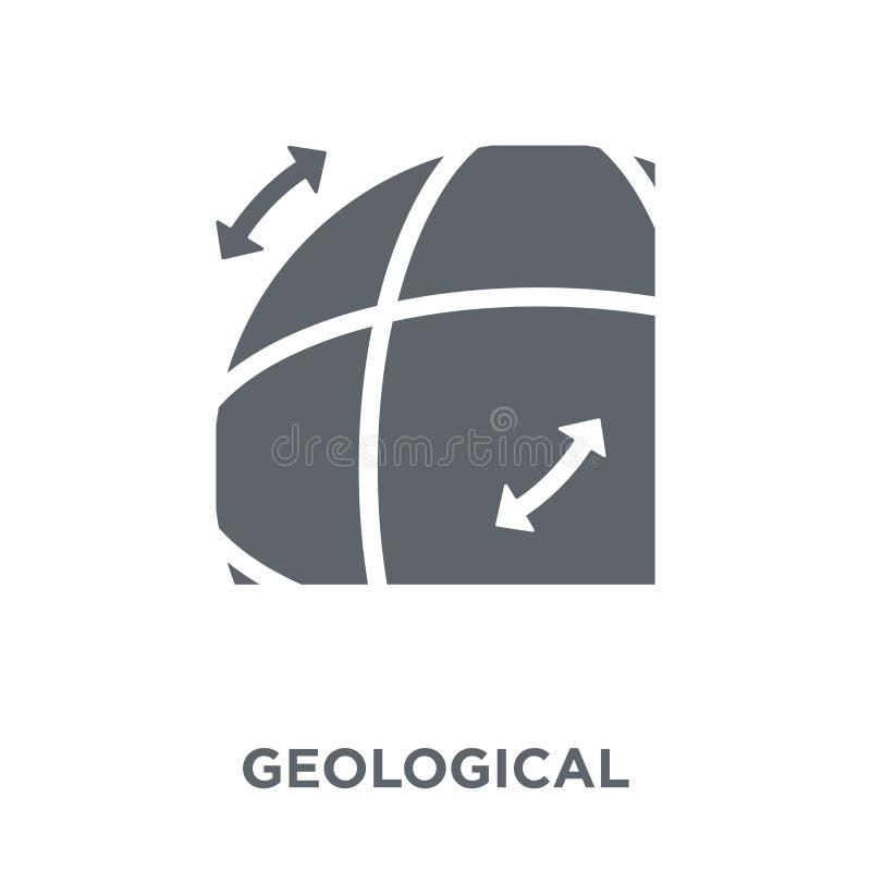 Geologisch pictogram van Museuminzameling vector illustratie