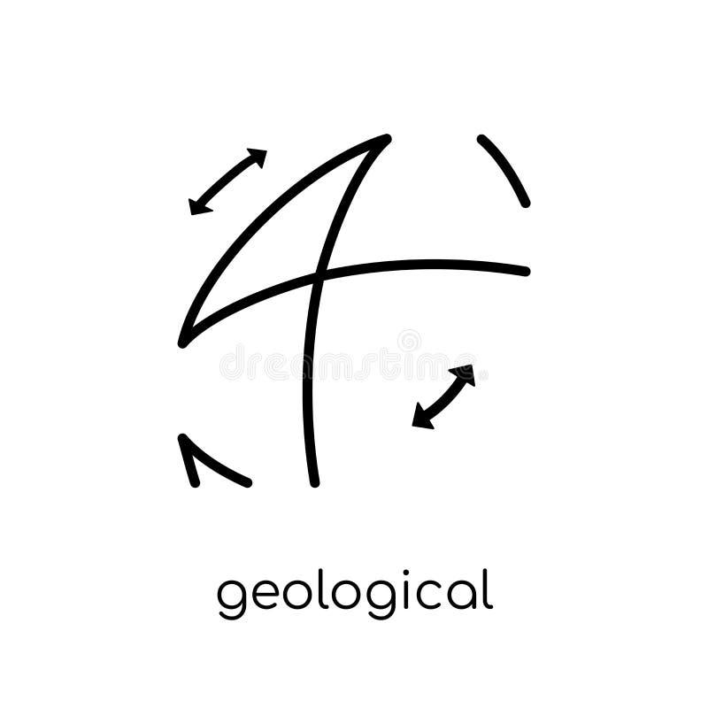 Geologisch pictogram van Museuminzameling stock illustratie