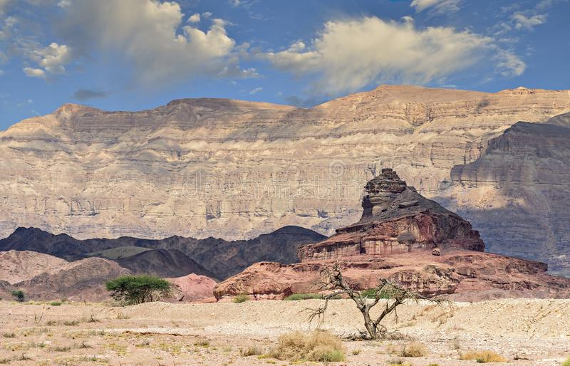 Geologische Bildung genannt als Schraube, Wüste des Negev, Israel lizenzfreie stockfotografie