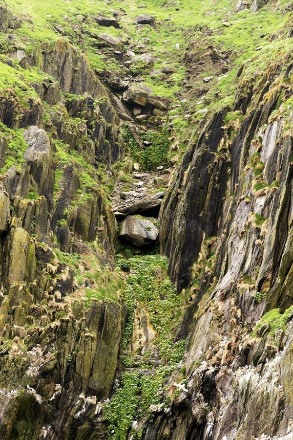 Geologische Bildung in Skellig Michael stockfotos