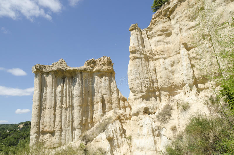 Geologische erosie in Frankrijk stock foto