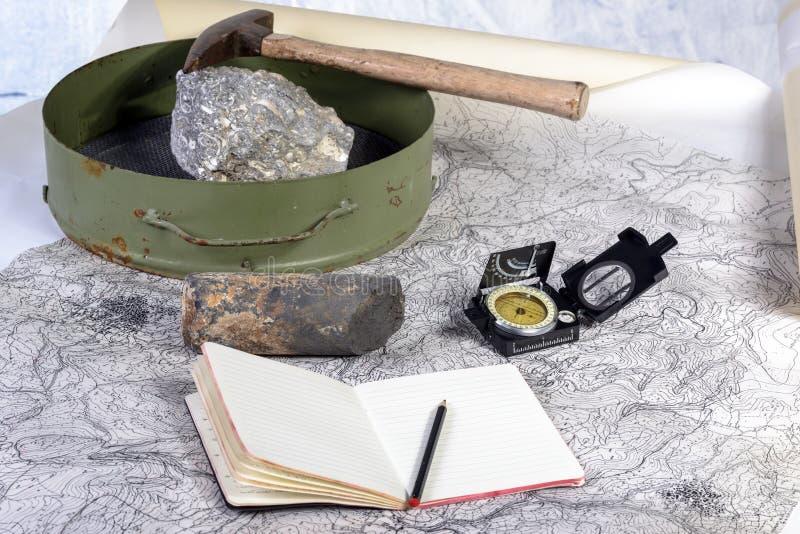 Geologische expeditie stock afbeelding