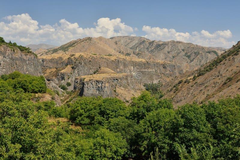 Geologische ` Symphonie des Steine ` Garni, Armenien lizenzfreies stockfoto