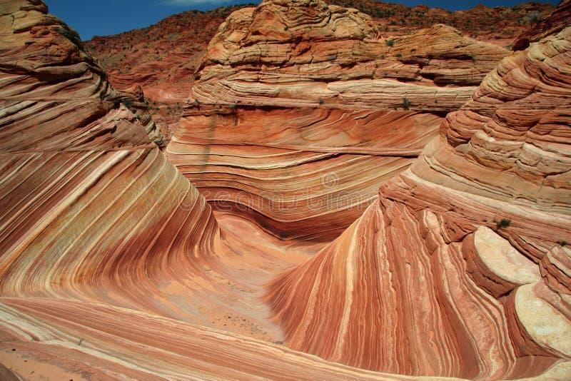 geologische vorming - de golf stock fotografie