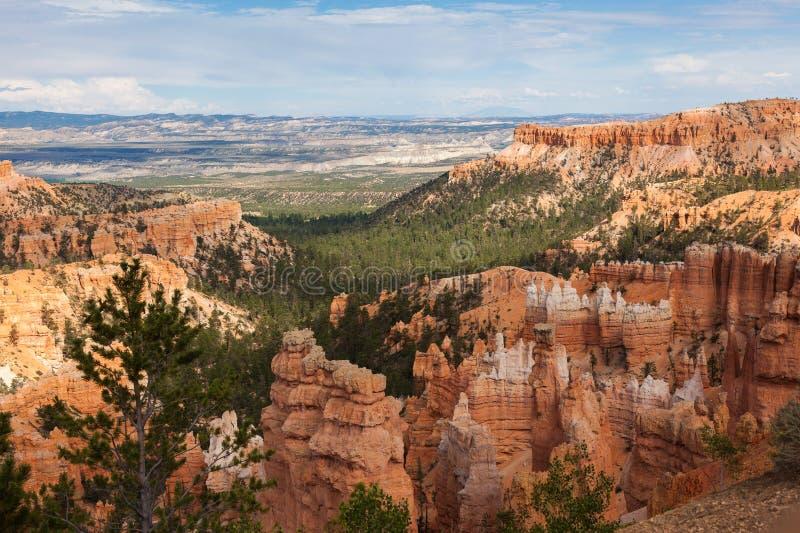 Geologische vormingen in canion Bryce royalty-vrije stock foto