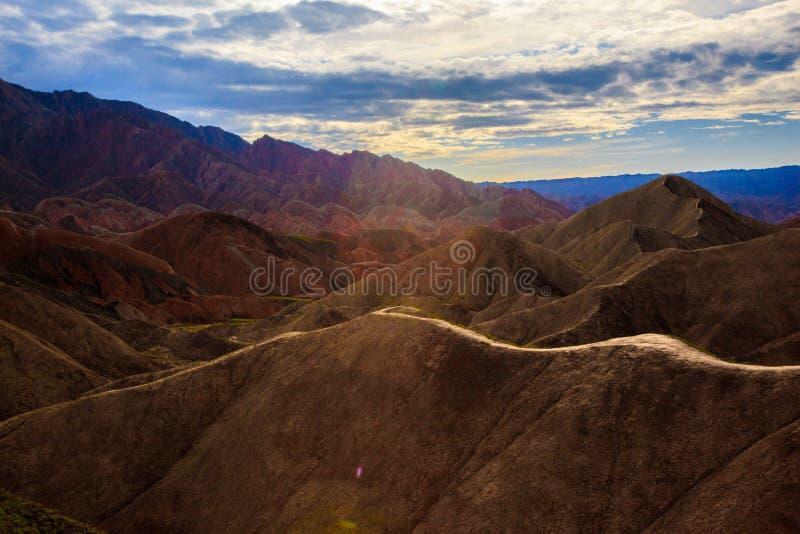 Geologischer Park Zhangyes Danxia lizenzfreie stockbilder