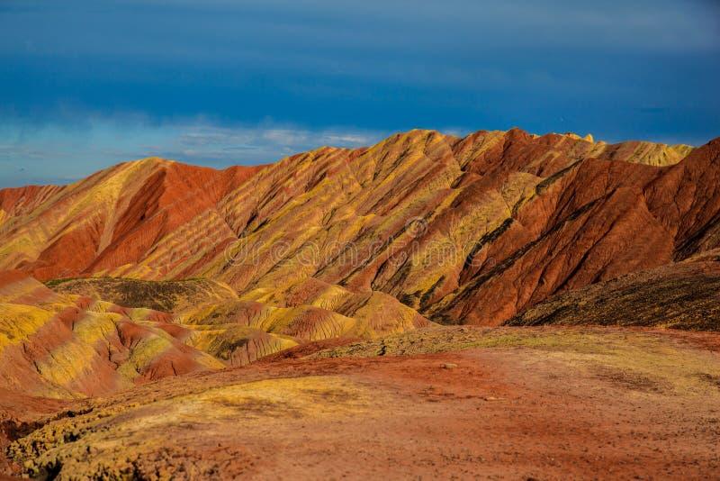 Geologischer Park Zhangyes Danxia lizenzfreie stockfotografie