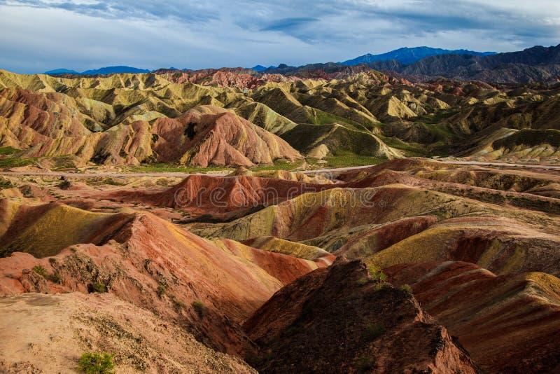 Geologischer Park Zhangyes Danxia stockfotografie