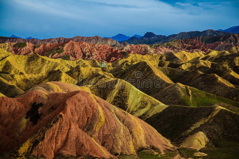 Geologischer Park Zhangyes Danxia stockfotos