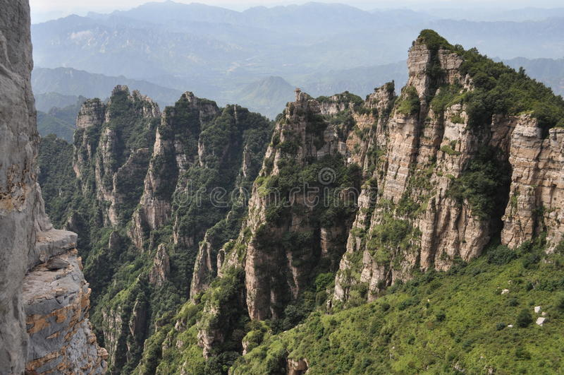 geologisk bergnationalpark för baishi arkivbild