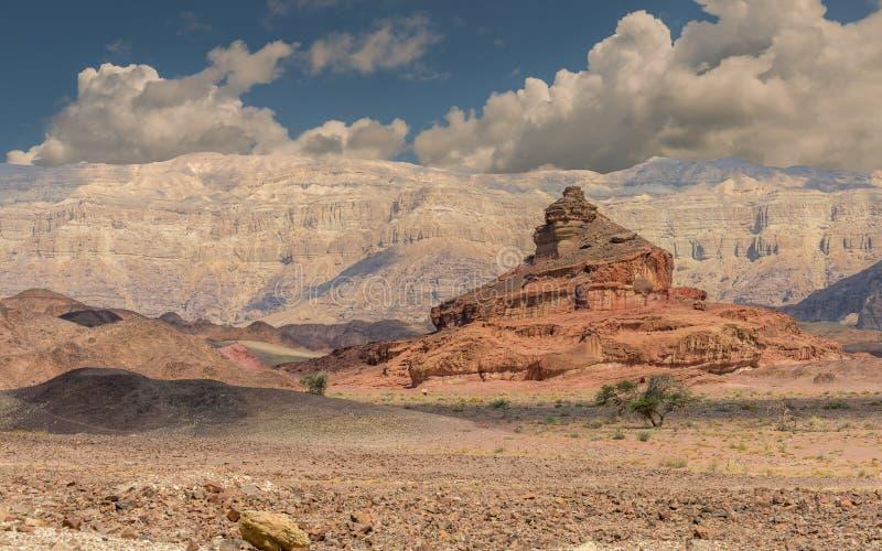Geologiskt bildande som namnges som skruven, öken av Negeven, Israel royaltyfria bilder