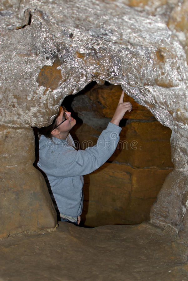 Download Geologist Exploring Caves stock image. Image of fossils - 24389027