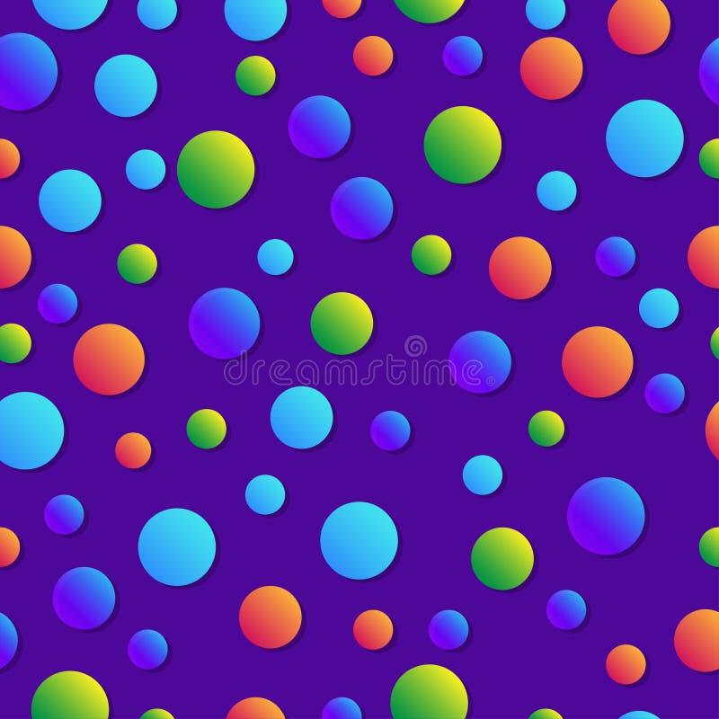 Geométrico abstracto Modelo colorido infantil Burbujas con pendiente Fondo de moda para el libro infantil stock de ilustración