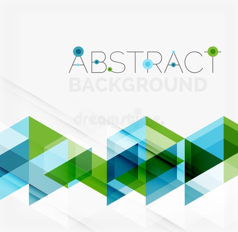 Geométrico abstracto Traslapo moderno ilustración del vector