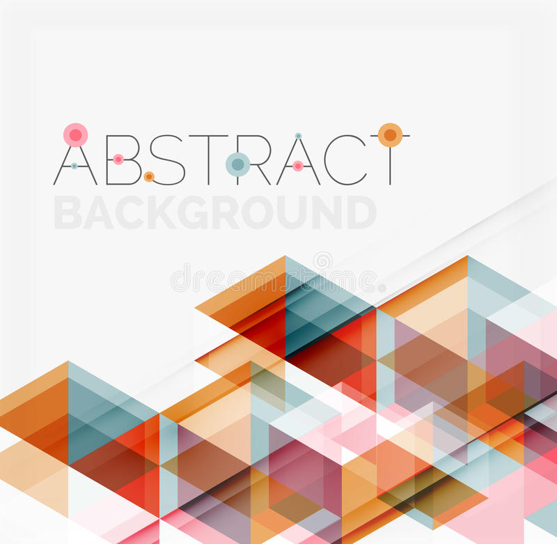 Geométrico abstracto Traslapo moderno stock de ilustración