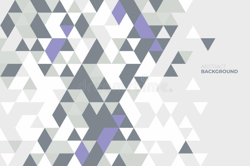 Geométrico abstrato Fundo de formas geométricas Teste padrão de mosaico colorido Fundo retro do triângulo ilustração do vetor