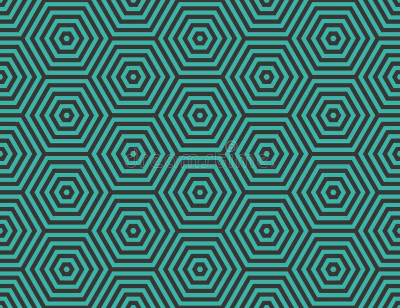 Geométrico abstrato Hexágonos encaixados ilustração stock