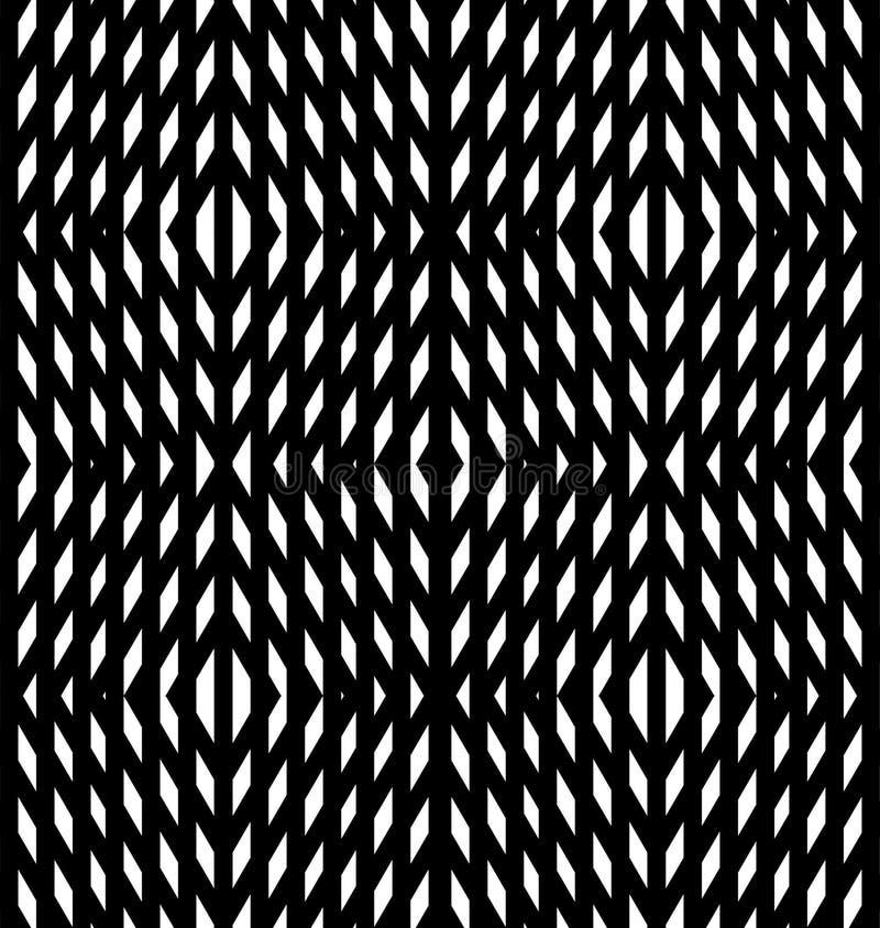 Geométrico abstrato Ilusões óticas, diamantes brancos ilustração stock
