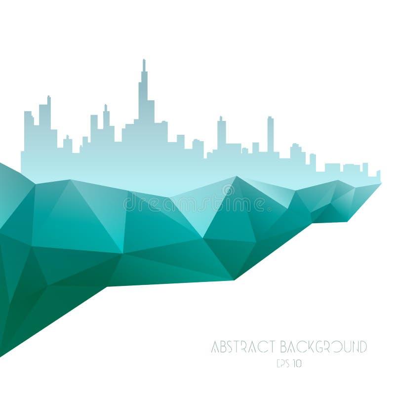 Geométrico abstrato Ilustração do polígono do vetor ilustração stock