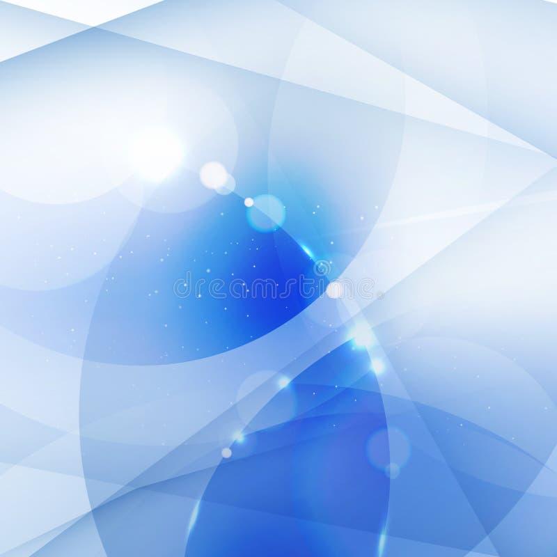 Geométrico blanco y azul del fondo abstracto, líneas, circunda el ove ilustración del vector