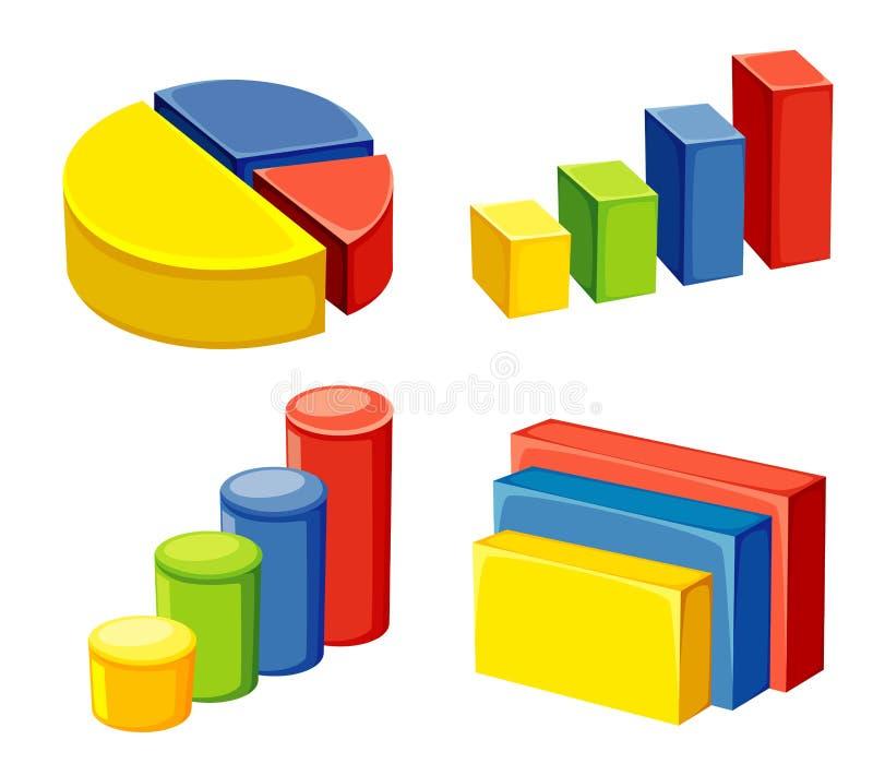 Geométrico colorido ilustración del vector