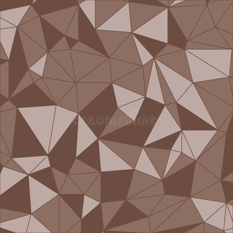 Geométrico inconsútil Modelo triangular Fondo geométrico Brown poligonal ilustración del vector