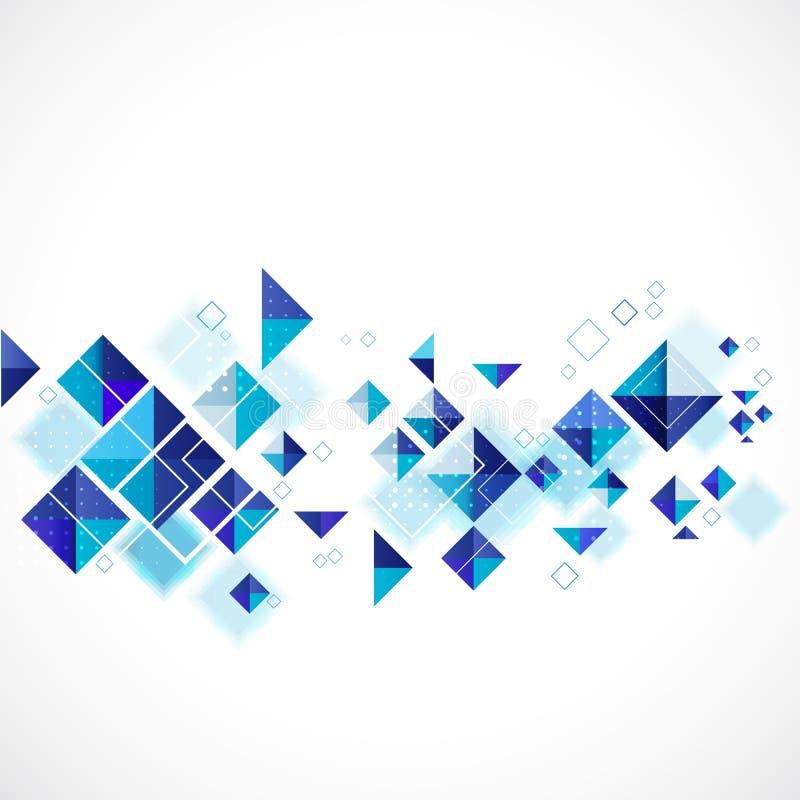 Geométrico moderno abstracto azul para la plantilla del negocio o de la tecnología libre illustration