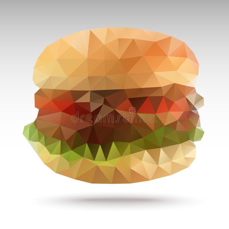 Geométrico poligonal do Hamburger ilustração stock