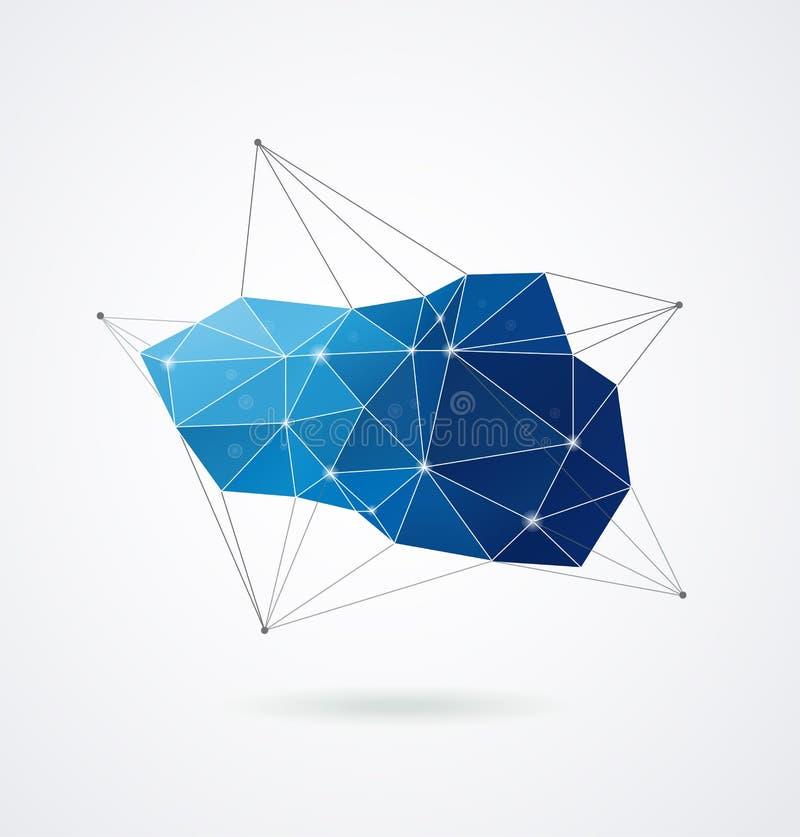 Geométrico poligonal, fondo de la impresión del vector 3D stock de ilustración