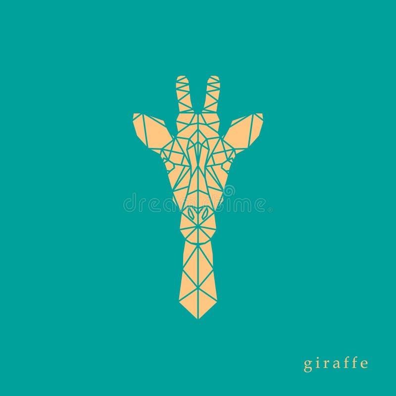 Geométrico principal do girafa ilustração stock