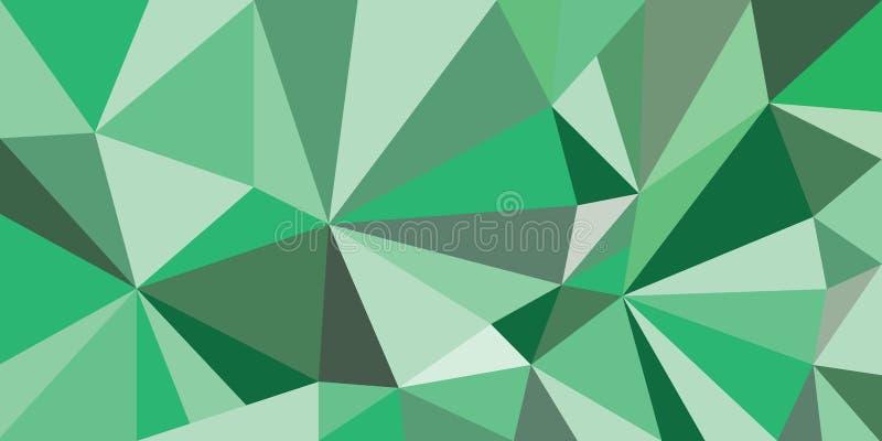 Geométrico verde stock de ilustración