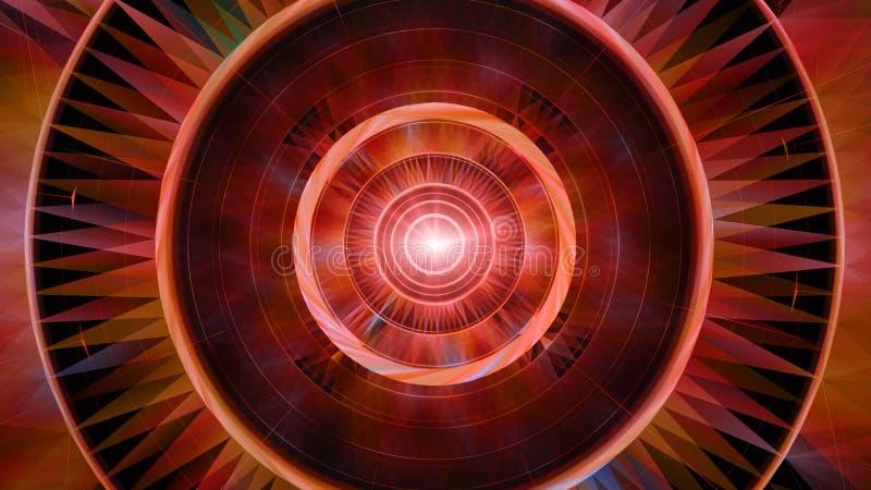 Geom?trico abstracto Concepto de la ciencia ficci?n, futurista y exterior del espacio ilustración del vector
