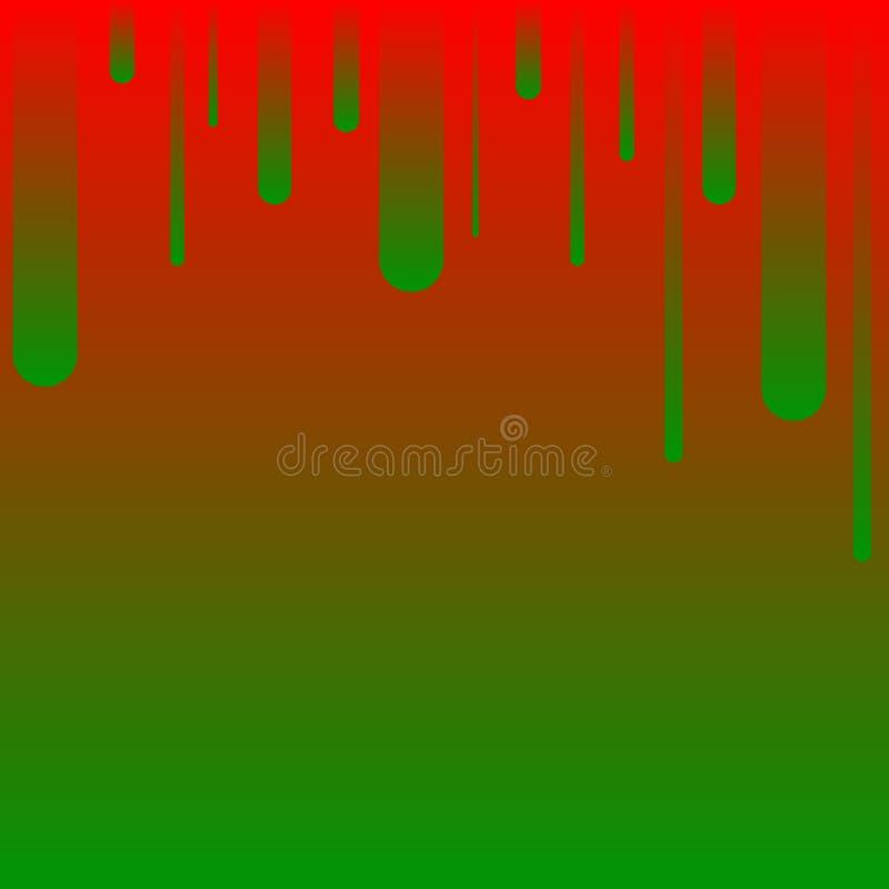Geom?trico abstracto Líneas rojo-verdes paralelas en el top Rayas coloridas ilustración del vector