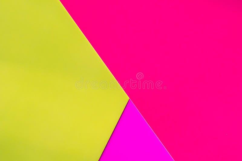 Geom?trico abstrato Papel colorido Projeto creativo imagem de stock