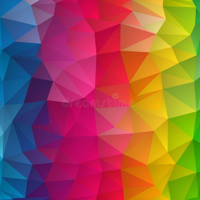 Geom?trico abstrato Tri?ngulos coloridos Disposi??o para anunciar Eps 10 ilustração royalty free