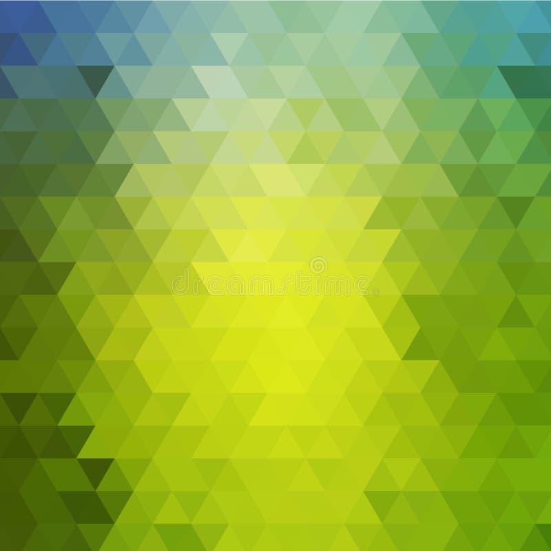 Geom?trico abstrato Tri?ngulos verdes Disposi??o para anunciar Eps 10 ilustração stock