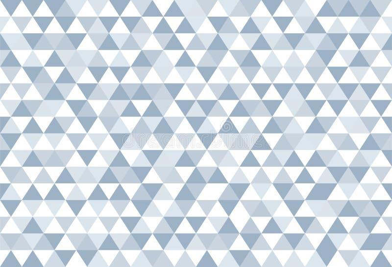 Geome de papel retro del modelo de los triángulos abstractos coloridos azules del océano libre illustration