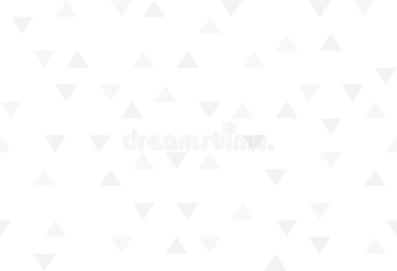 Geome för modell för gråa färgrika abstrakta trianglar för vit retro pappers- stock illustrationer