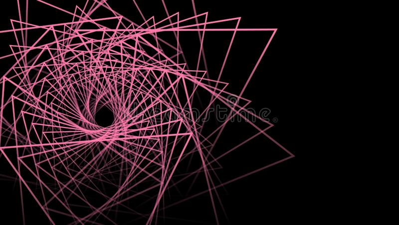 Geometría abstracta Arte de la ilustración Celebración y partido Ilustración abstracta Fondo negro de la geometría de moda del ex libre illustration