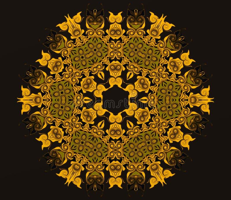 Geometría abstracta del arte moderno Mandala del este mística diseño tradicional del caleidoscopio floral Backgro simétrico psico libre illustration