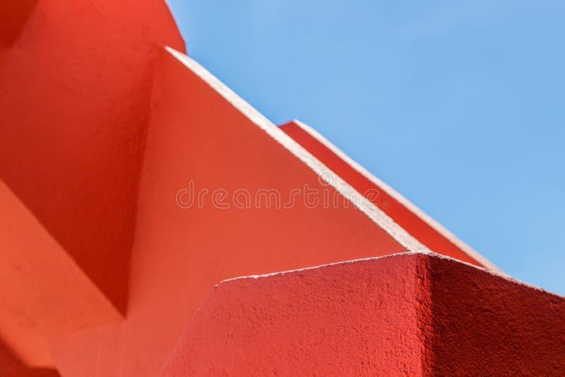 Geometría abstracta del doblez anaranjado del rugger imagen de archivo libre de regalías
