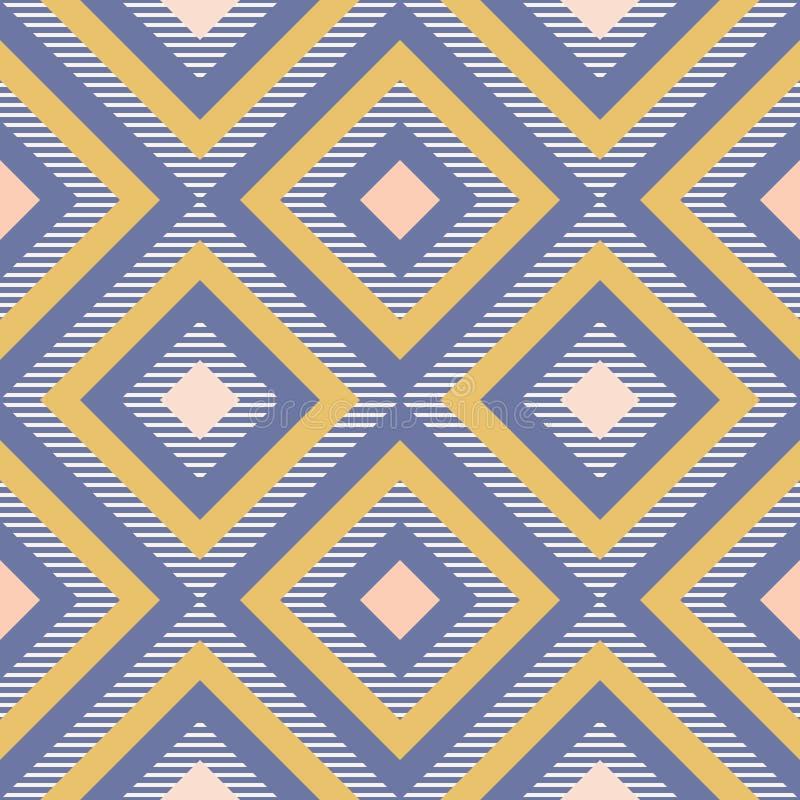 Geometría abstracta en colores retros, modelo del geo de las formas del diamante stock de ilustración