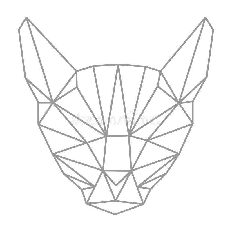 Geometría de Lowpolygonal, cabeza del gato Estilo del esquema simple plano Es libre illustration