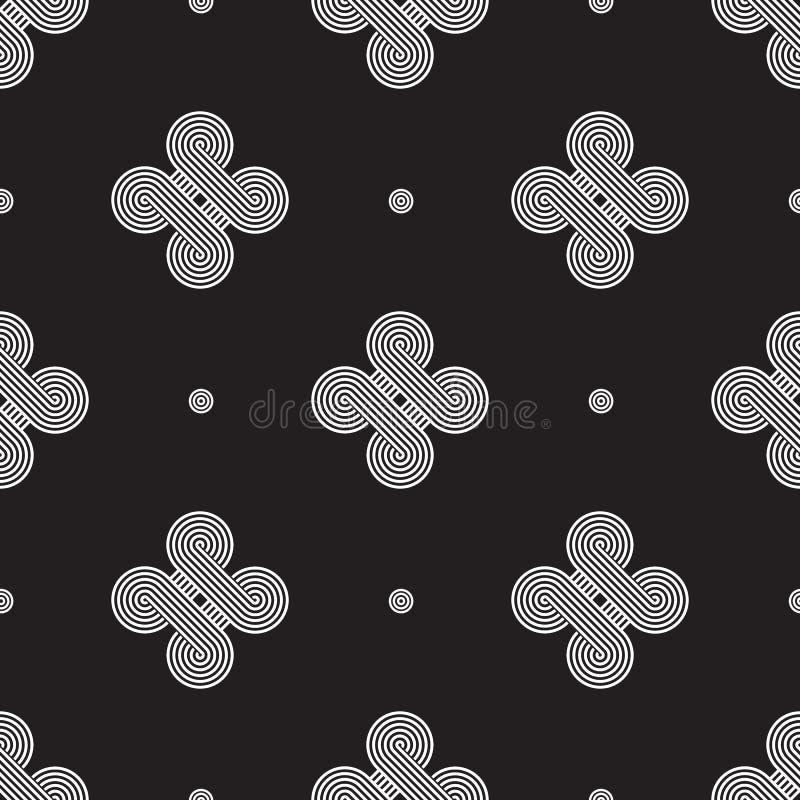 Geometría minimalistic del vector blanco y negro stock de ilustración