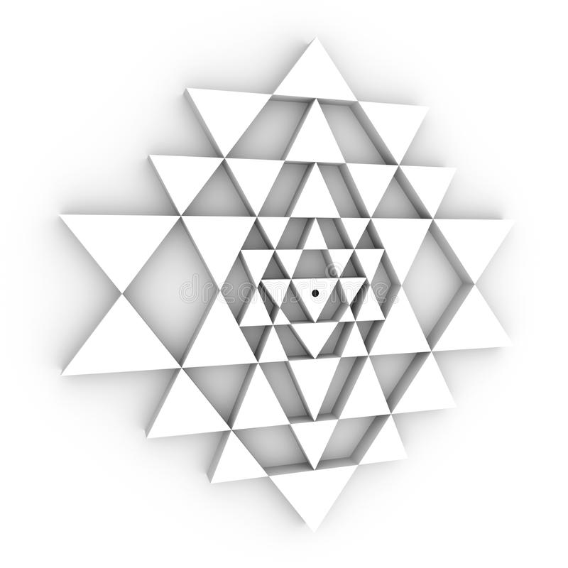 Geometría perfecta de Sri Yantra stock de ilustración
