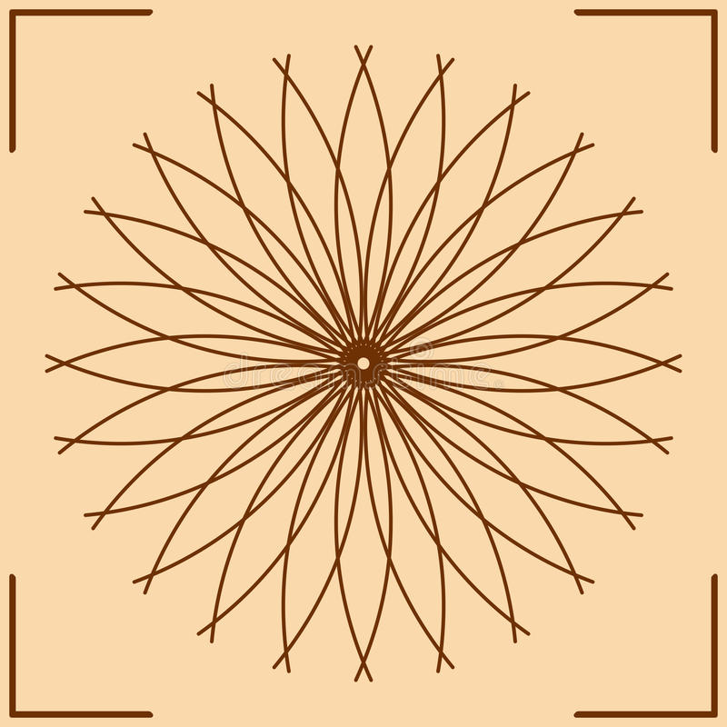 Geometría sagrada stock de ilustración