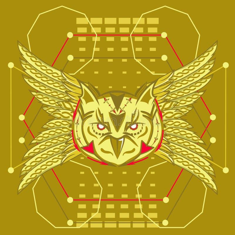 Geometría sagrada del búho ilustración del vector